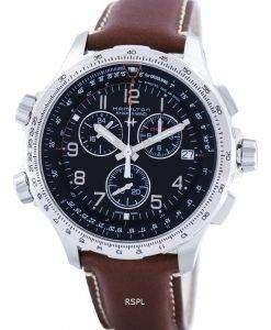 ハミルトン カーキ アヴィエイション x-ウィンド クロノグラフ石英 GMT スイス製 H77912535 メンズ腕時計