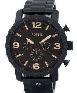 化石ネイト クロノグラフ ブラウン ダイアル JR1356 メンズ腕時計