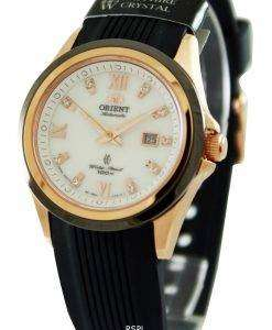 スポーティな自動 NR1V002W レディース腕時計をオリエントします。