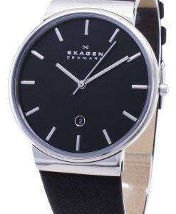 スカーゲンの支えクオーツ ブラック ダイヤル SKW6104 メンズ腕時計