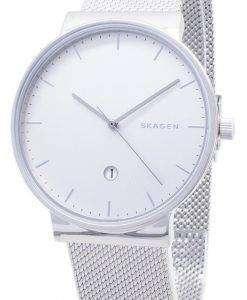 スカーゲンの支えスチール メッシュ石英 SKW6290 メンズ腕時計