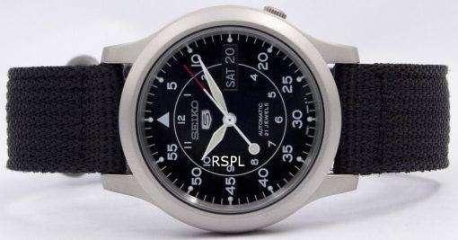 セイコー 5 ミリタリー自動ナイロン メンズは snk809 腕時計を見てください。