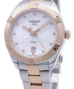 Tissot T-Classic PR100 T101.910.22.116.00 T1019102211600ダイヤモンドアクセントレディースウォッチ