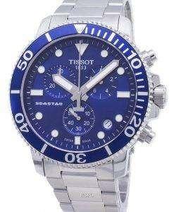 Tissot T-Sport Seastar 1000 T120.417.11.041.00 T1204171104100クロノグラフ300Mメンズウォッチ