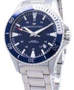 ハミルトンカーキネイビースキューバH82345141自動アナログメンズ腕時計