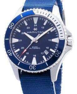 ハミルトンカーキネイビースキューバH82345941自動アナログメンズ腕時計