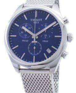 ティソTクラシックPR 100 T101.417.11.041.00 T1014171104100クロノグラフメンズ腕時計