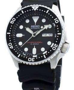 改装されたセイコー自動SKX007J SKX007J1 SKX007日本製ダイバーの200 Mメンズ腕時計