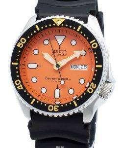 整備されたセイコー自動SKX011 SKX011J1 SKX011J日本製ダイバーの200 Mメンズ腕時計