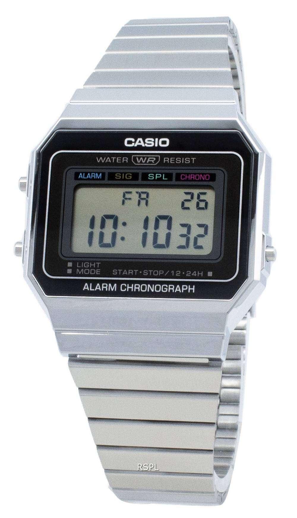 カシオユースデジタルA700W-1A A700W-1アラームクォーツメンズ腕時計