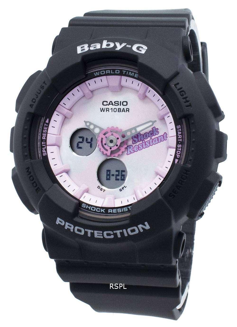 カシオBaby-GアナログデジタルBA-120T-1A BA120T-1Aワールドタイムクォーツレディース腕時計