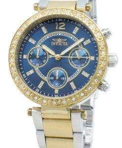 インビクタエンジェル29924ダイヤモンドアクセントクォーツクロノグラフレディース腕時計