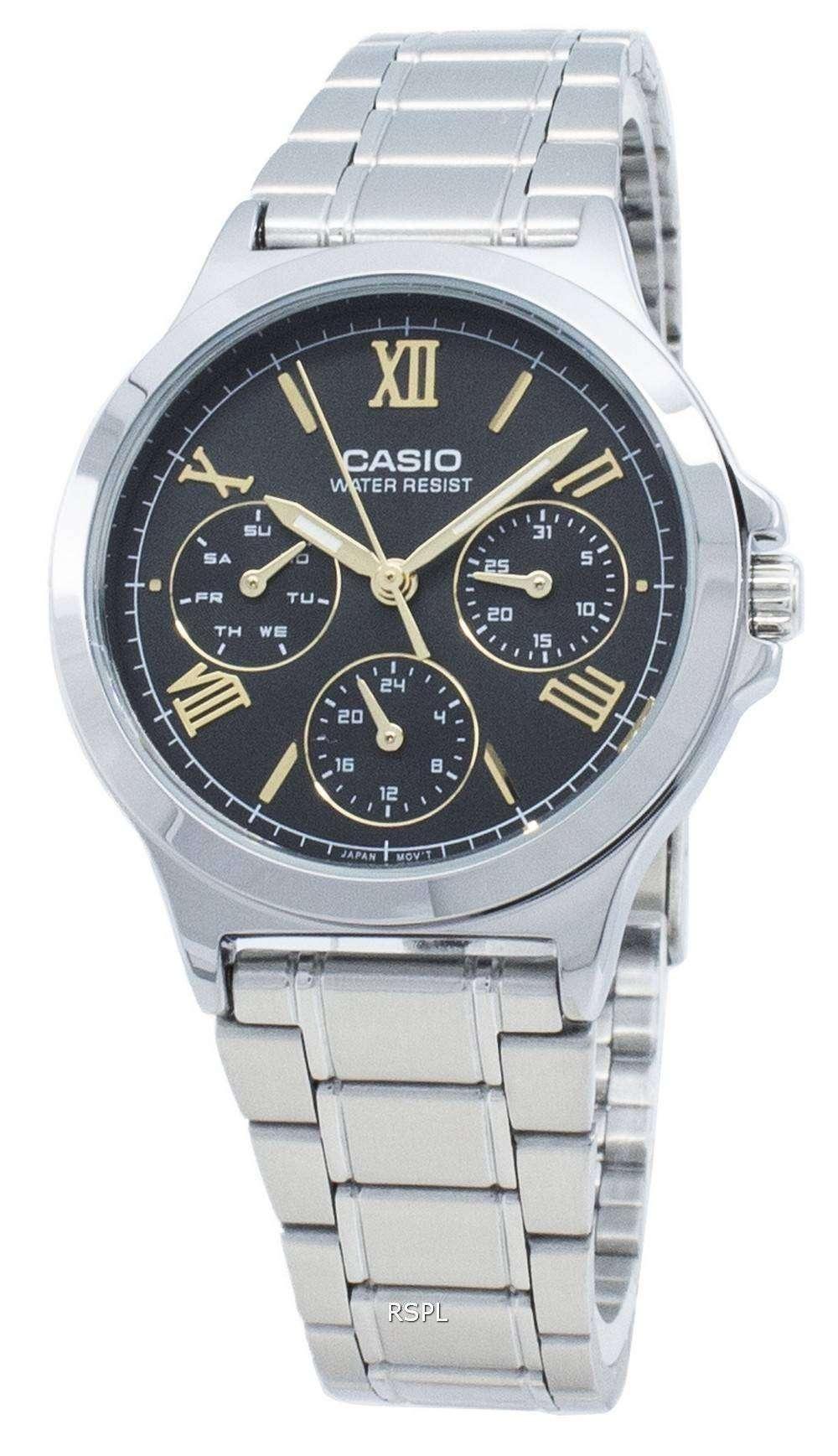 カシオタイムピースLTP-V300D-1A2 LTPV300D-1A2クォーツレディース腕時計