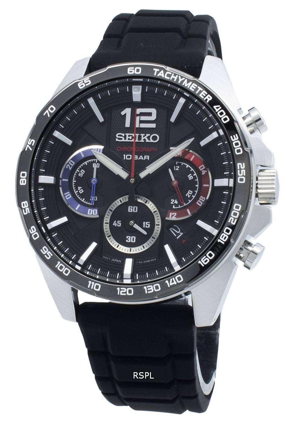 セイコークロノグラフSSB347 SSB347P1 SSB347Pタキメータークォーツメンズ腕時計