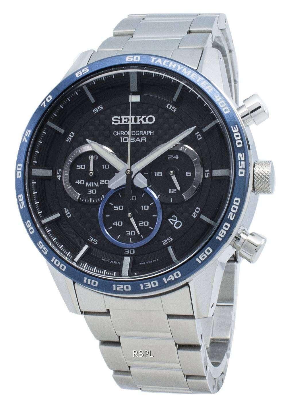 セイコークロノグラフSSB357 SSB357P1 SSB357Pタキメータークォーツメンズ腕時計