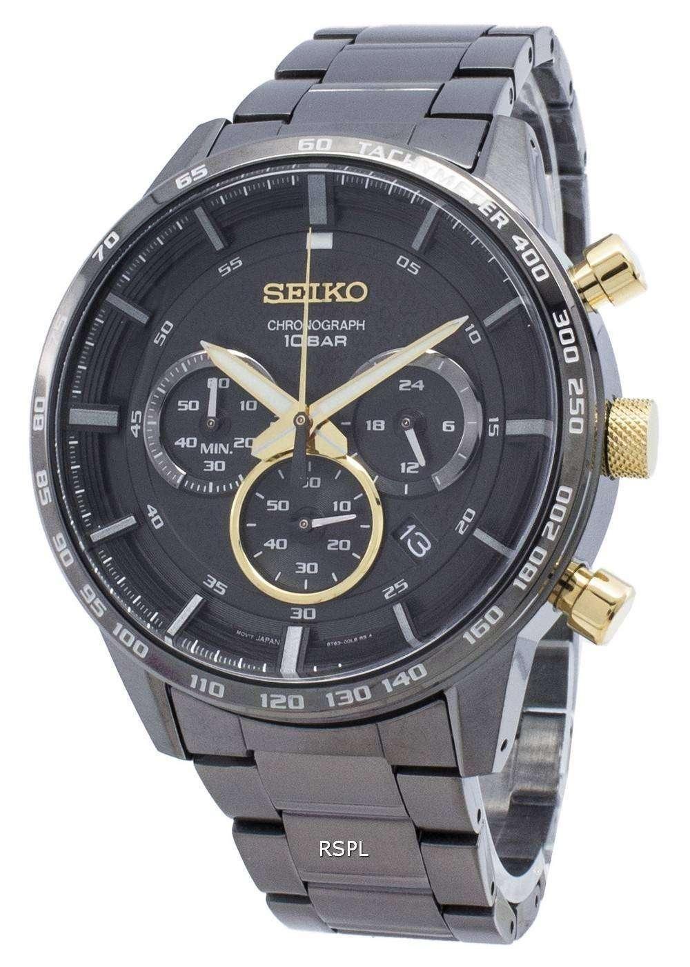セイコークロノグラフSSB363 SSB363P1 SSB363Pタキメータークォーツメンズ腕時計