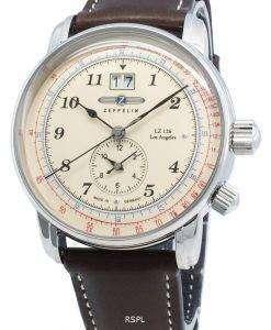 ツェッペリンLZ126ロサンゼルス8644-5 86445クォーツパルソメーターメンズ腕時計