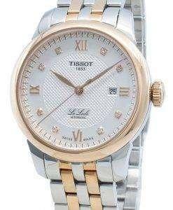ティソルロックルT006.207.22.036.00 T0062072203600ダイヤモンドアクセント自動レディース腕時計