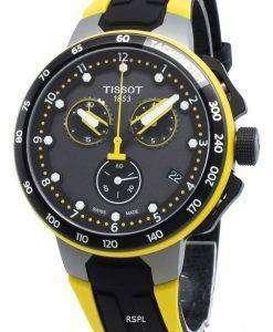 ティソTレースサイクリングT111.417.37.057.00 T1114173705700タキメータークォーツメンズ腕時計