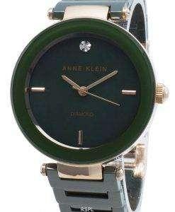 アンクラインダイヤモンドアクセント1018RGGNクォーツレディース腕時計