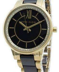 アンクライン3344BKGBダイヤモンドアクセントクォーツレディース腕時計