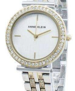 アンクラインAK-3409SVTTダイヤモンドアクセントクォーツレディース腕時計