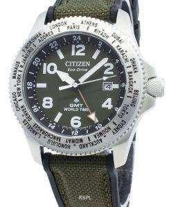 シチズンプロマスターBJ7100-23Xワールドタイムエコドライブ200 Mメンズ腕時計