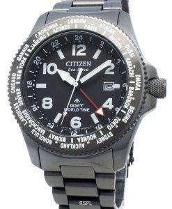シチズンプロマスターBJ7107-83E世界時間エコドライブ200 Mメンズ腕時計