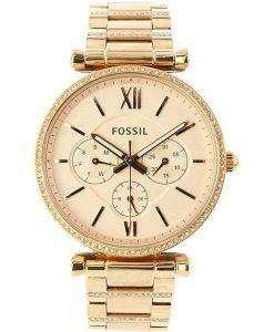 Fossil Carlie ES4542ダイヤモンドアクセントクォーツウィメンズウォッチ