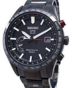 改装されたセイコースポーチュラGPSソーラーワールドタイム日本製SSF005 SSF005J1 SSF005Jメンズ腕時計