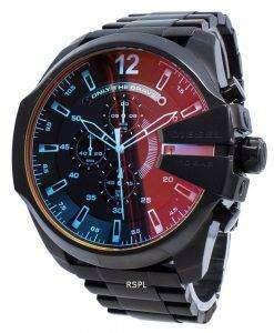 改装されたディーゼルメガチーフブラックイオンメッキブラウンダイヤルDZ4318メンズ腕時計