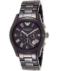 エンポリオアルマーニセラミカAR1400クロノグラフクォーツメンズ腕時計