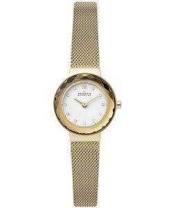 スカーゲンレオノーラSKW2800ダイヤモンドアクセントクォーツレディース腕時計