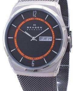 メッシュ バンド SKW6007 メンズ腕時計スカーゲン Melbye チタニウム ケース