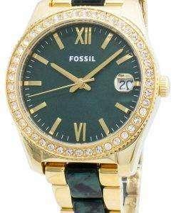 化石スカーレットミニES4676ダイヤモンドアクセントクォーツ女性用腕時計