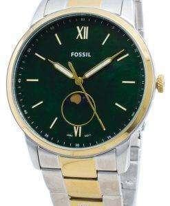化石ミニマリストFS5572ムーンフェイズクォーツメンズ腕時計