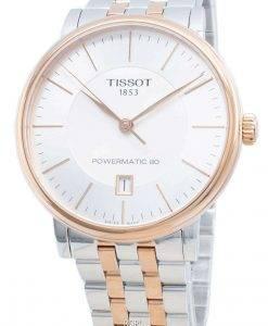 ティソTクラシックカーソンプレミアムパワーマティック80 T122.407.22.031.01 T1222072203101自動メンズ腕時計