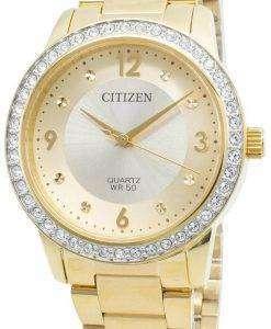 シチズンEL3092-86Pダイヤモンドアクセントクォーツレディース腕時計