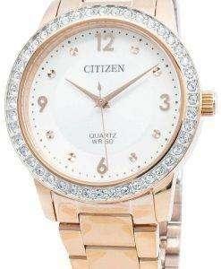 シチズンEL3093-83Aダイヤモンドアクセントクォーツレディース腕時計