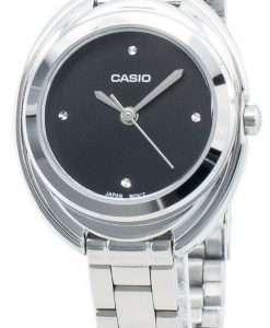 カシオエンティサーLTP-E166D-1Cクォーツレディース腕時計