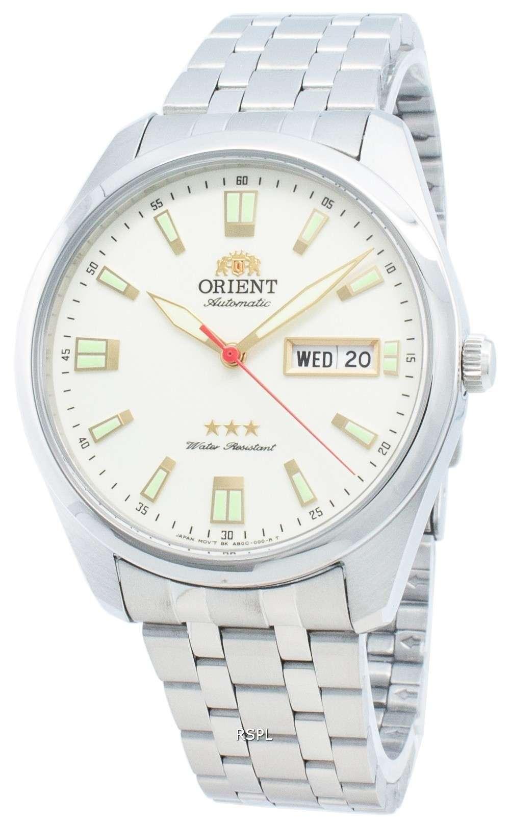 オリエントトライスターRA-AB0020S19B自動ユニセックス腕時計