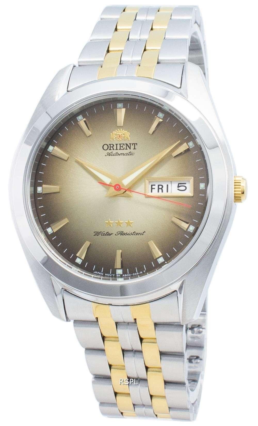 オリエントトライスターRA-AB0031G19B自動メンズ腕時計