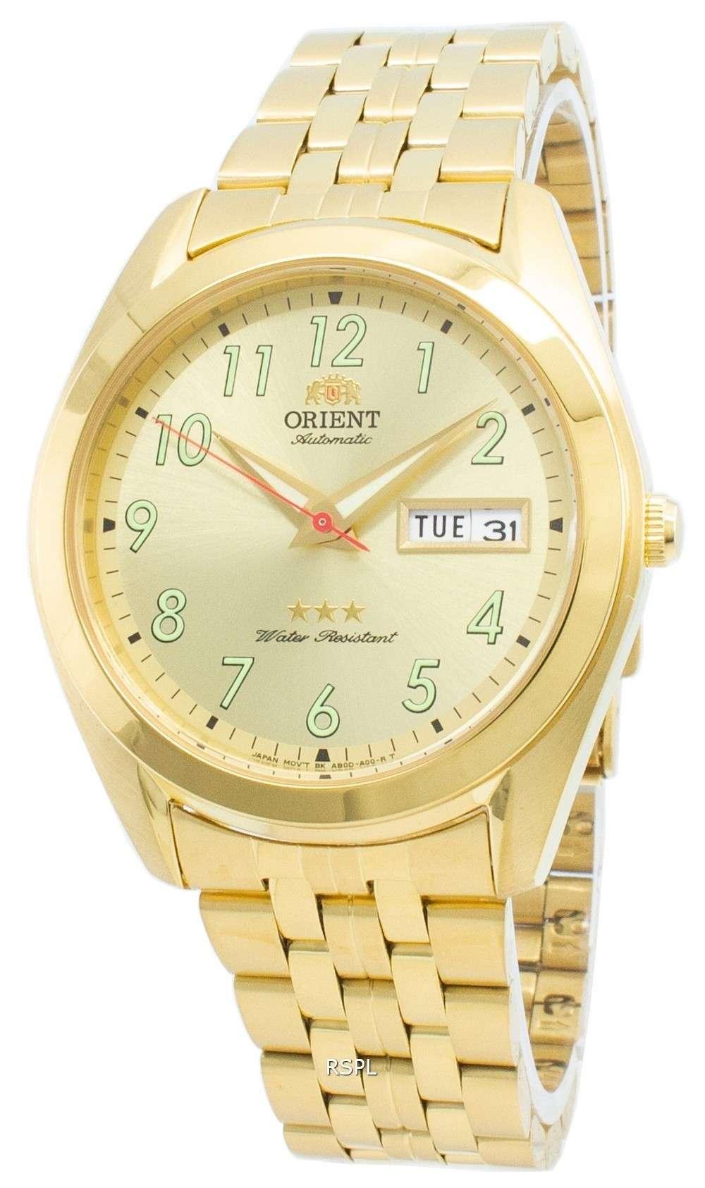 オリエントトライスターRA-AB0036G19B自動メンズ腕時計