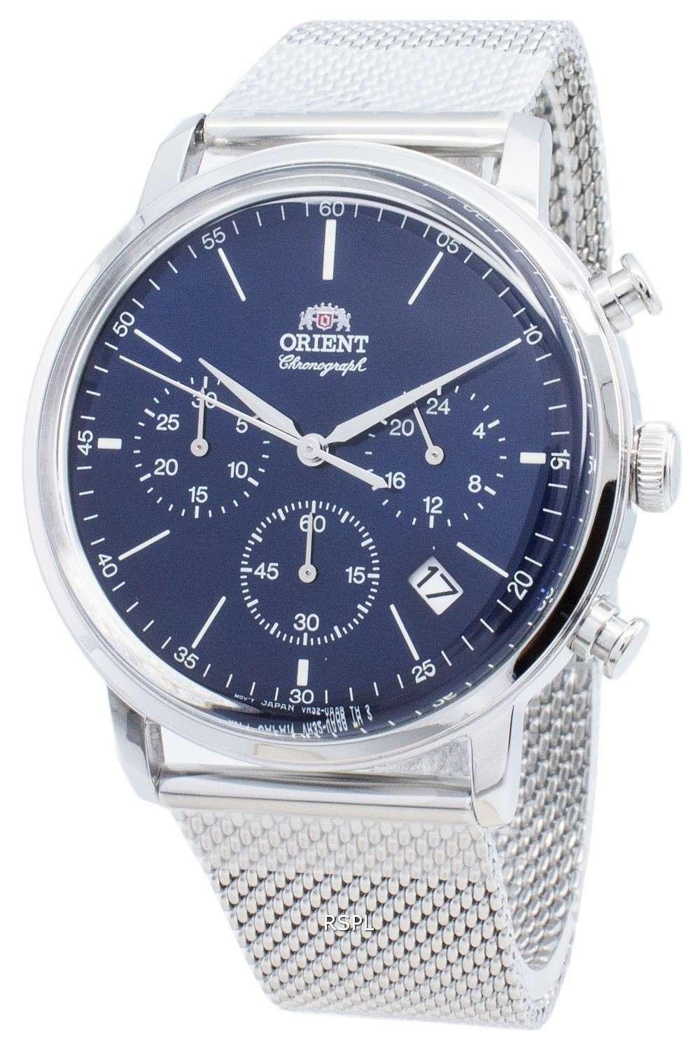 オリエントクラシックRA-KV0401L10Bクロノグラフクォーツメンズ腕時計