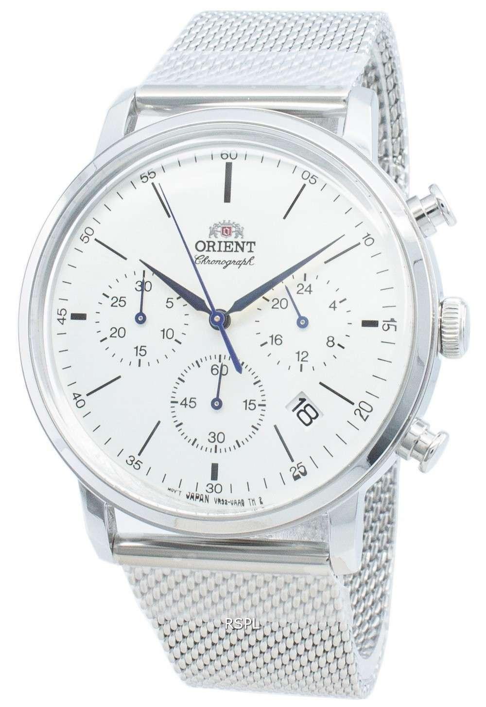 オリエントクラシックRA-KV0402S10Bクロノグラフクォーツメンズ腕時計