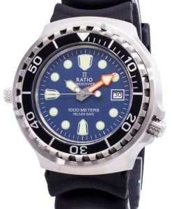 レシオフリーダイバーヘリウムセーフ1000 Mサファイアクォーツ1038EF102V-BLUメンズ腕時計
