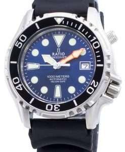 比率無料ダイバーヘリウムセーフ1000 Mステンレス鋼自動1066KE20-33VA-BLUメンズ腕時計