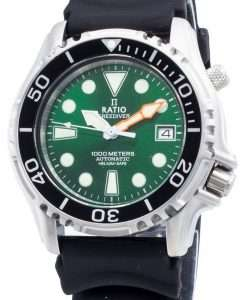 比率無料ダイバーヘリウムセーフ1000 Mステンレス鋼自動1066KE20-33VA-GRNメンズ腕時計