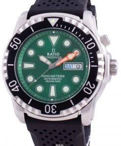 比率無料ダイバーヘリウムセーフ1000 Mサファイア自動1068HA90-34VA-GRNメンズ腕時計