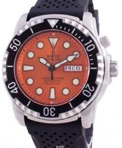比率無料ダイバーヘリウムセーフ1000 Mサファイア自動1068HA90-34VA-ORGメンズ腕時計